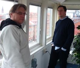 Per och Eric i Tornrummet på Fysicum i Lund